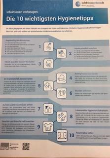 Hygienevorschriften  Corona - Foto/Abbildung: Ministerium für Bildung RLP